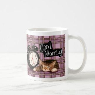 chaton pourpre de tartan mug