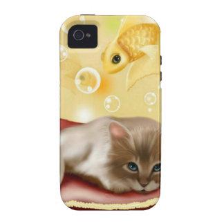 Chaton rêveur mignon coques iPhone 4/4S