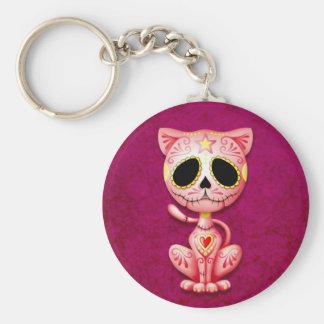 Chaton rose de sucre de zombi porte-clés