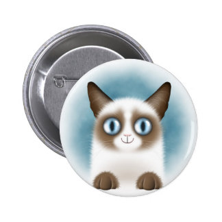 Chaton siamois curieux badges