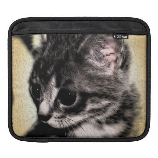 Chaton tigré poches pour iPad