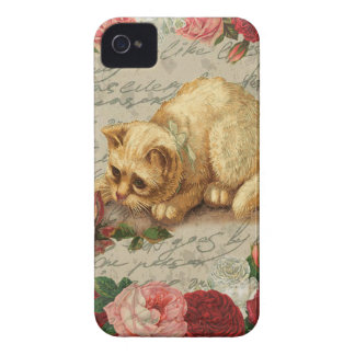 Chaton vintage coques Case-Mate iPhone 4