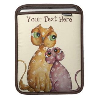 Chatons dans la douille d'iPad d'amour Poches iPad