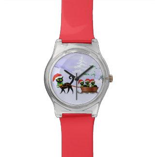 Chatons de Noël de Purrr-fect Montres Bracelet