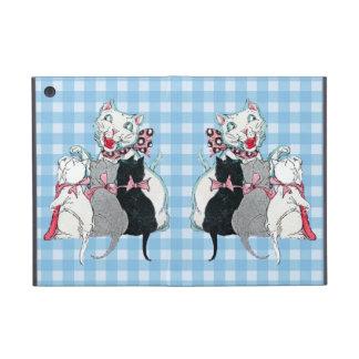 Chatons vintages du chat trois de mère avec des ar étuis iPad mini