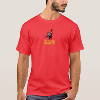 Chatouillement du T-shirt de rouge de Giants