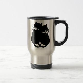 Chats affectueux mug de voyage