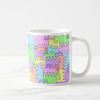 """Chats """"arc-en-ciel de puzzle pelucheux """" mug"""