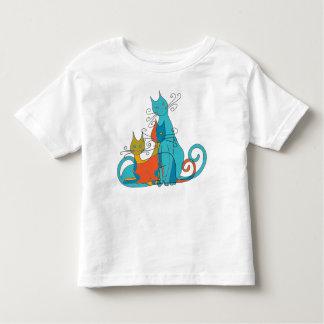Chats camouflés t-shirt pour les tous petits