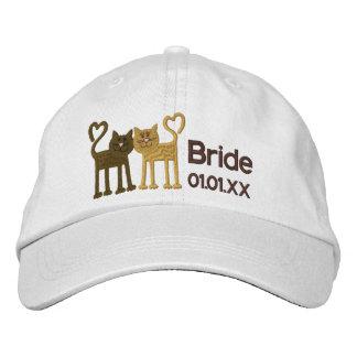 Chats d'amour casquette brodée