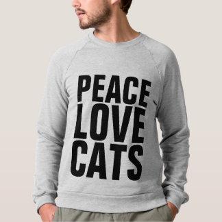 CHATS d'AMOUR de PAIX, T-shirts de chat