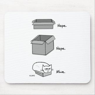 Chats dans des boîtes - tapis de souris drôle de