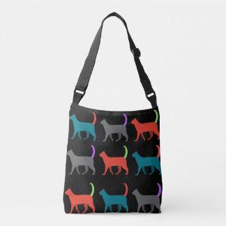Chats dans le sac crossbody de sac