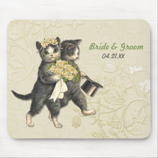Chats de mariage tapis de souris