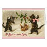 Chats de Noël Cartes