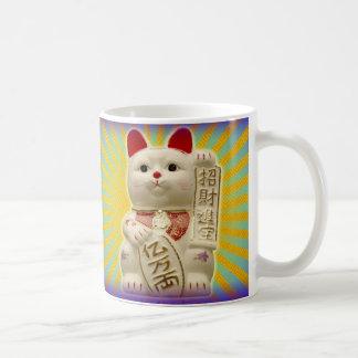 Chats de ondulation japonais de bonne chance de mug