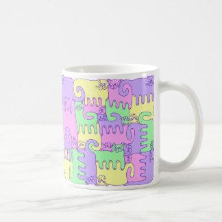 """Chats de puzzle """"pelucheux """" mug"""