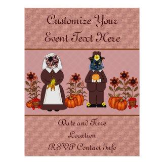 Chats de thanksgiving prospectus avec motif