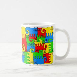 """Chats """"élément chauffant """" de puzzle mug"""