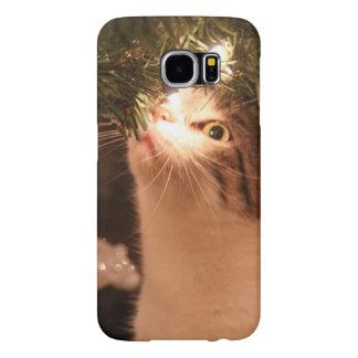 Chats et lumières - chat de Noël - arbre de Noël