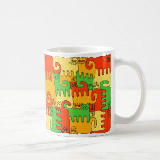 """Chats """"feuille de puzzle d'automne """" mug"""