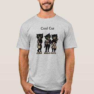 Chats frais de cru de noir de musicien t-shirt