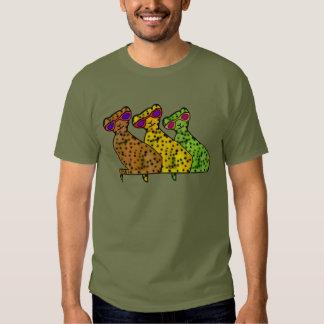 Chats frais de guépard t-shirts