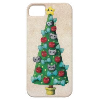 Chats mignons sur l'arbre de Noël Étui iPhone 5