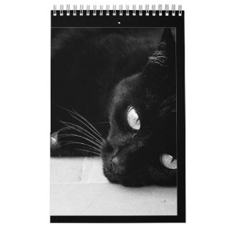 Chats noirs calendrier