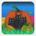 Chats noirs de Halloween avec des autocollants de