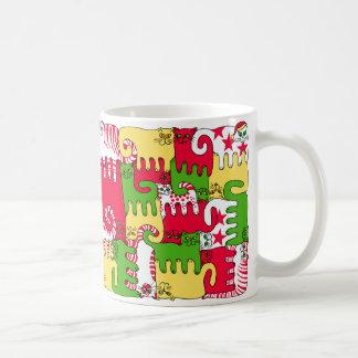 """Chats """"stupéfaction de puzzle d'hiver """" mug"""