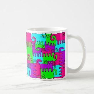 """Chats """"vin de puzzle de baie de sureau """" mug"""