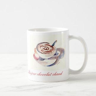 Chaud de chocolat de Bonjour Mug