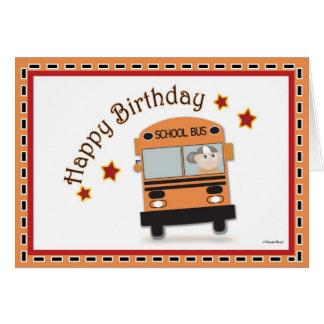 Chauffeur de bus de joyeux anniversaire carte de vœux