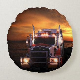 Chauffeur de camion coussins ronds