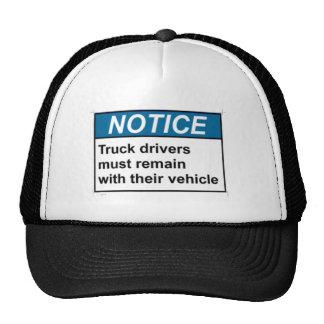 Chauffeurs de camion d'AVIS Casquette De Camionneur