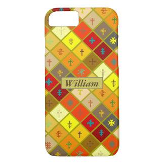 Chauffez le plaid coloré avec les croix mélangées coque iPhone 7
