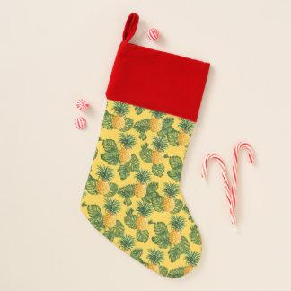 Chaussette De Noël Ananas et feuille tropical