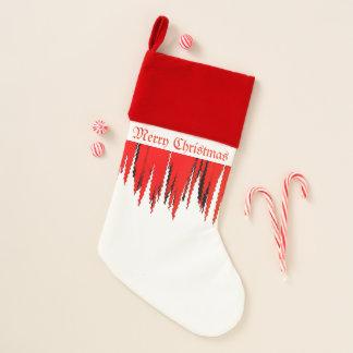"""Chaussette De Noël Bas blanc rouge de """"Joyeux Noël"""""""