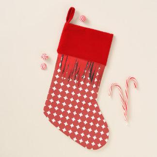 Chaussette De Noël Bas blanc rouge de Noël de motif de boule
