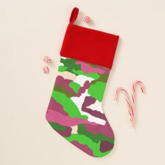 Chaussette De Noël Bas coloré de Camo de Noël de peluche
