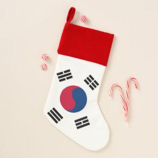 Chaussette De Noël Bas de Noël avec le drapeau de la Corée du Sud