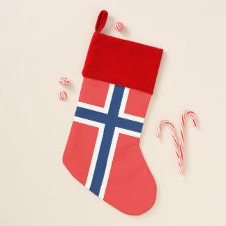 Chaussette De Noël Bas de Noël avec le drapeau de la Norvège