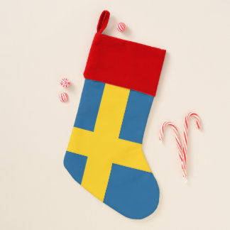 Chaussette De Noël Bas de Noël avec le drapeau de la Suède