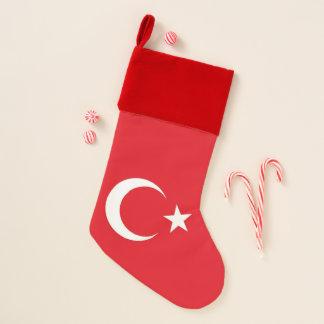 Chaussette De Noël Bas de Noël avec le drapeau de la Turquie