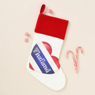 Chaussette De Noël Bas de Noël de drapeau de coeur de la Thaïlande