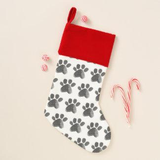 Chaussette De Noël Bas de vacances d'animal familier d'empreinte de