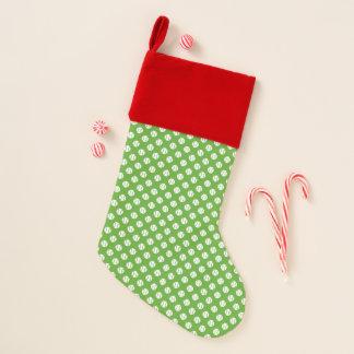 Chaussette De Noël Bas rouge et vert de Noël de motif de balle de