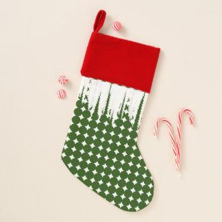 Chaussette De Noël Bas rouge vert de Noël blanc