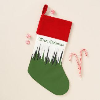 """Chaussette De Noël Blanc rouge avec vert le """"Joyeux Noël """""""